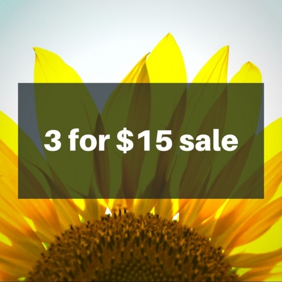 3 for $15 Sale!